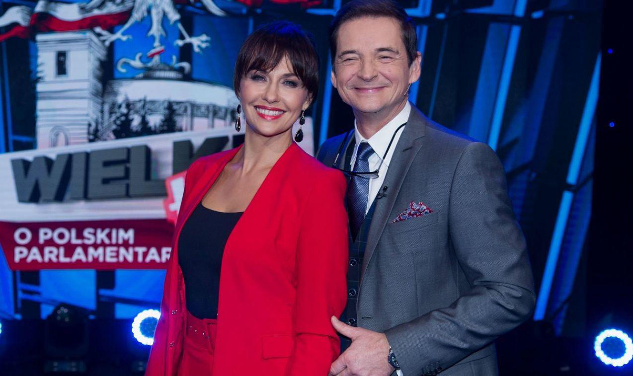 Gospodarzami programu byli Anna Popek i Przemysław Babiarz (fot. TVP)