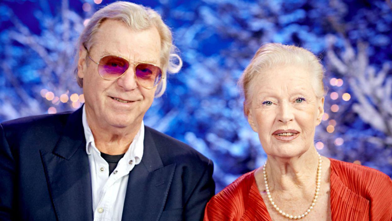 Beata Tyszkiewicz z bratem Krzysztofem (fot. TVP)