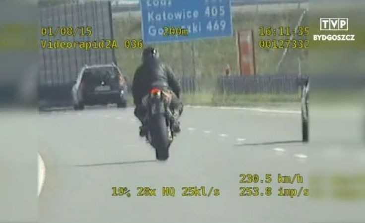 Pędził motorem autostradą ponad 200 km/h (mat. KMP Grudziądz)