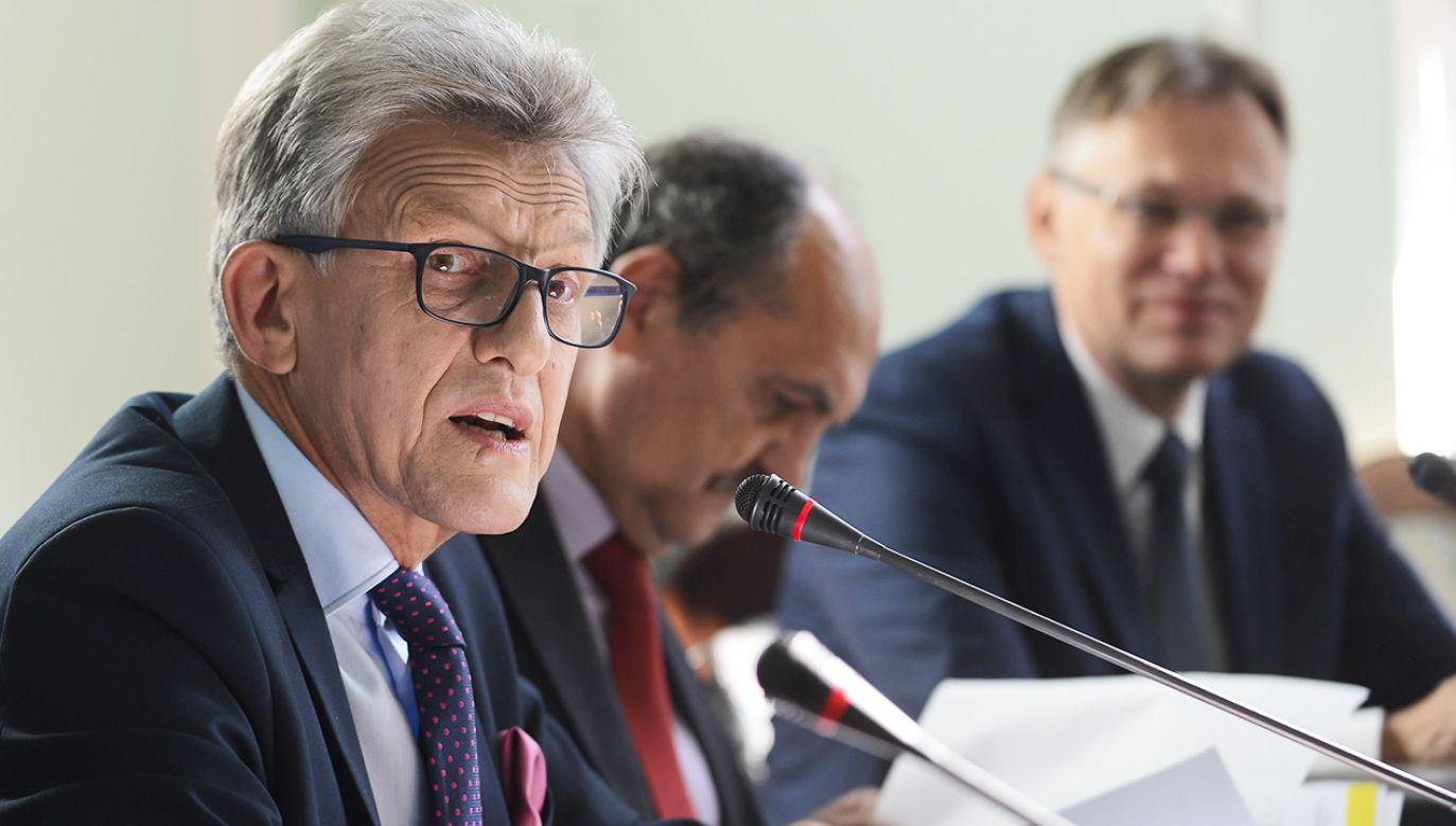 Stanisław Piotrowicz, przewodniczący sejmowej komisji sprawiedliwości (fot. arch.PAP/Jakub Kamiński)