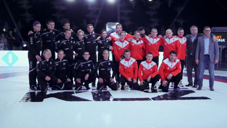 Zdjęcie zawodników AZ Supra Brokers Wrocław i Unii Racibórz (fot. Facebook/ AZ Supra Brokers)
