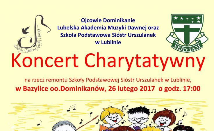 Koncert Charytatywny (plakat organizatora)