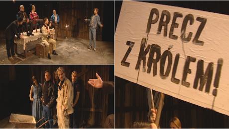 """""""Hamlet"""" w stodole. Nowy spektakl na scenie u Osterwy"""