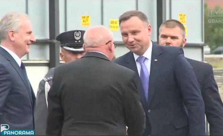 Prezydent Andrzej Duda z wizytą w Malborku