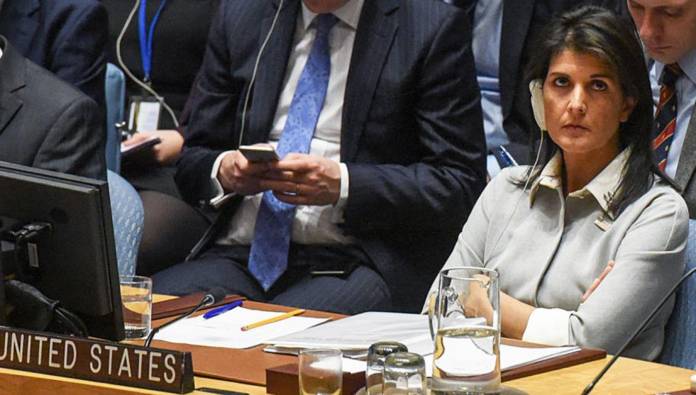 Nikki Haley podziękowała Polsce za wsparcie (fot. Stephanie Keith/Getty Images)