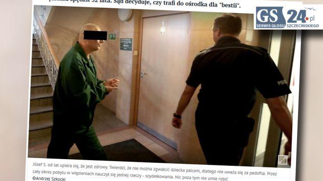 Józef F. odsiaduje drugi wyrok za gwałt (fot. GS24.pl)