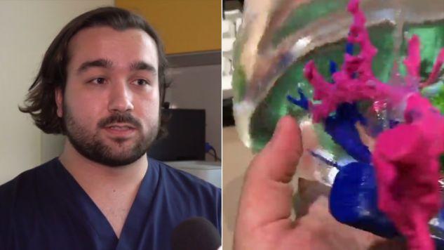 Lekarze już używają modeli wyprodukowanych metodą, której autorem jest Polak (fot. wideo/PAP)