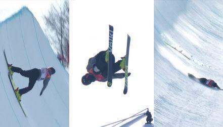 Halfpipe: Szwajcar upadł z wysokości 5,5 m na krawędź rynny