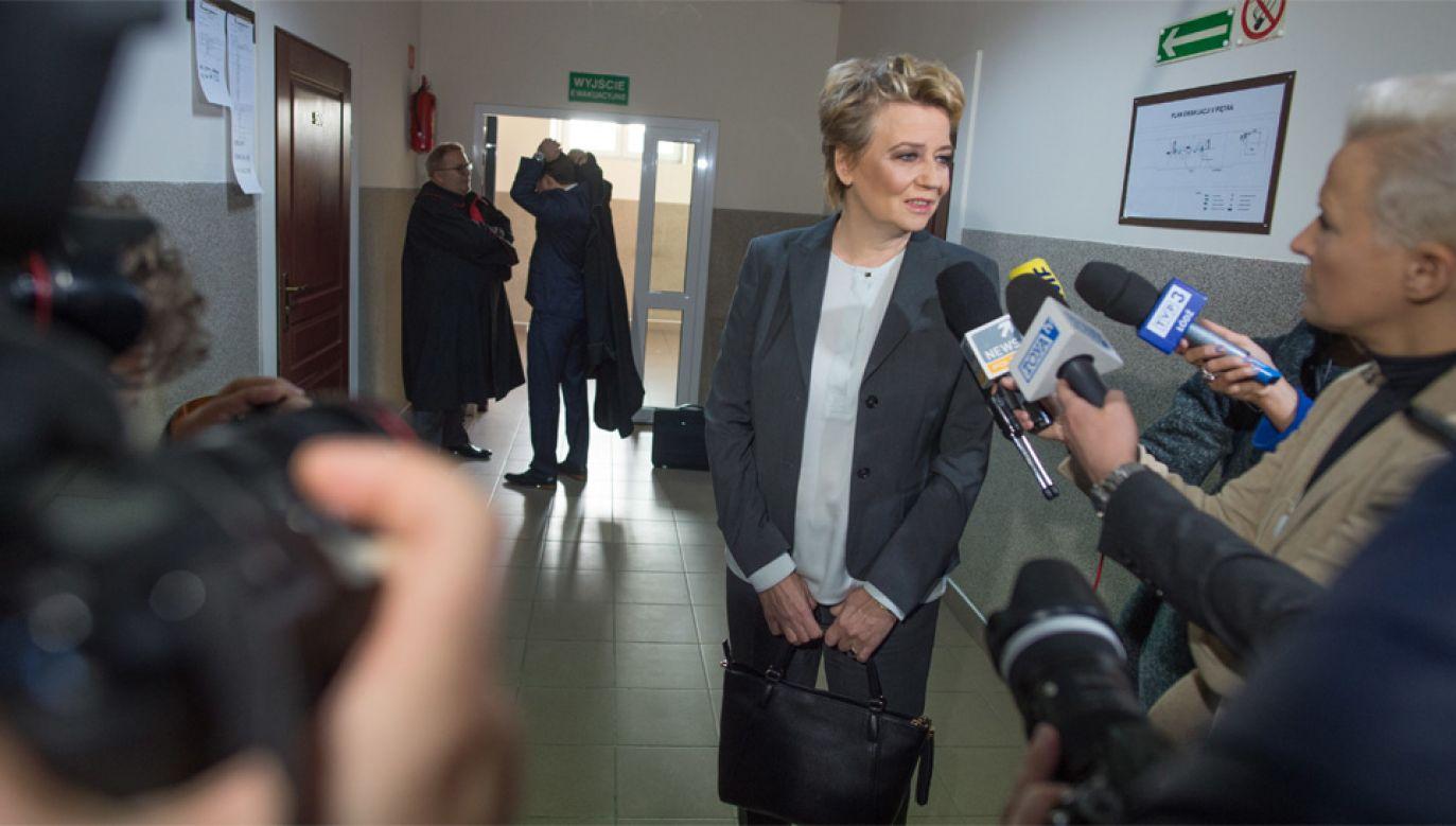"""Hanna Zdanowska twierdzi, że zarzuty są """"bezzasadne"""" (fot. PAP/Grzegorz Michałowski)"""