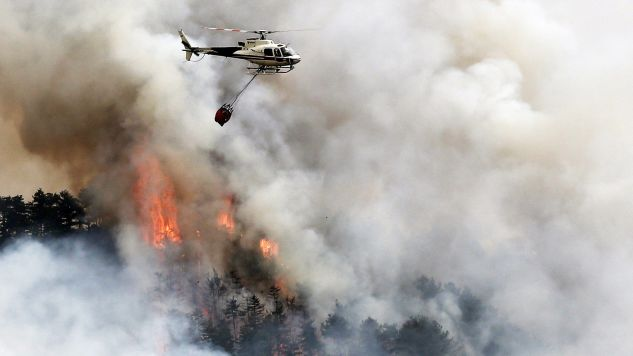 Ponad 300 osób zostało ewakuowanych (fot. PAP/EPA/JESUS DIGES )