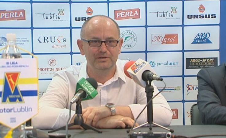 Dominik Nowak - trener Motor Lublin (fot. TVP Lublin)