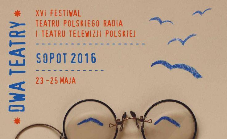 Plakat festiwalowy autorstwa prof. Tomasza Bogusławskiego z gdańskiej ASP.