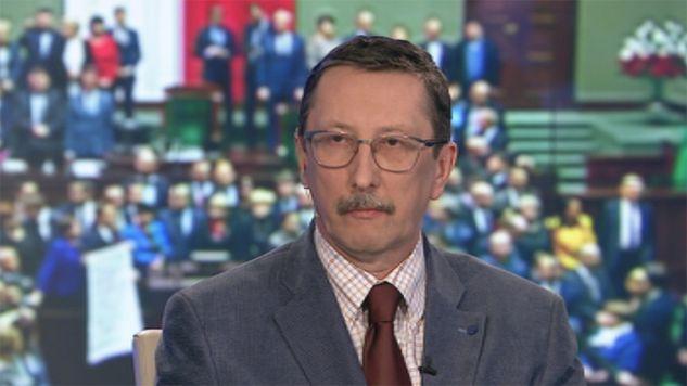 Seantor PiS Jan Żaryn (fot. TVP Info)