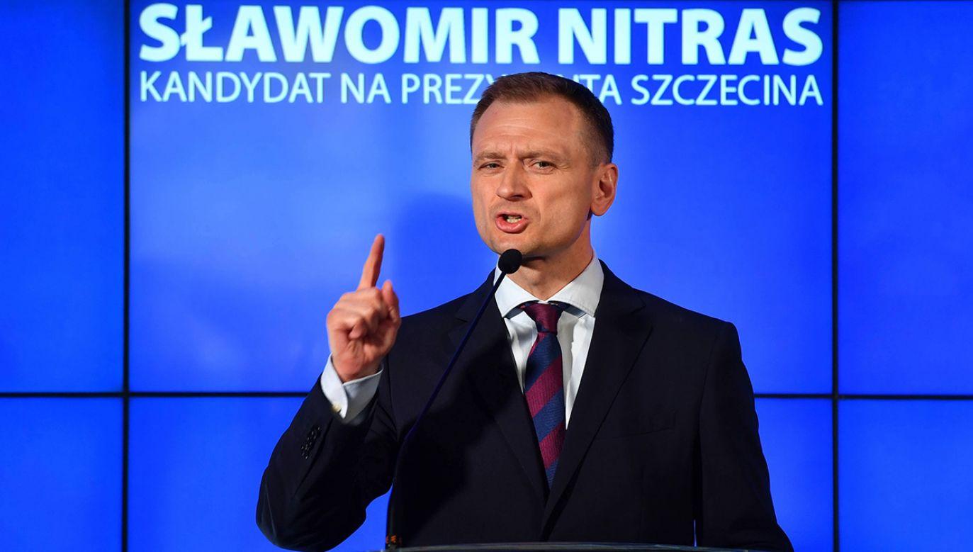 Członkowie Platformy Obywatelskiej i Nowoczesnej przedstawiły wspólnego kandydata na prezydenta Szczecina (fot. arch.  PAP/Marcin Bielecki)