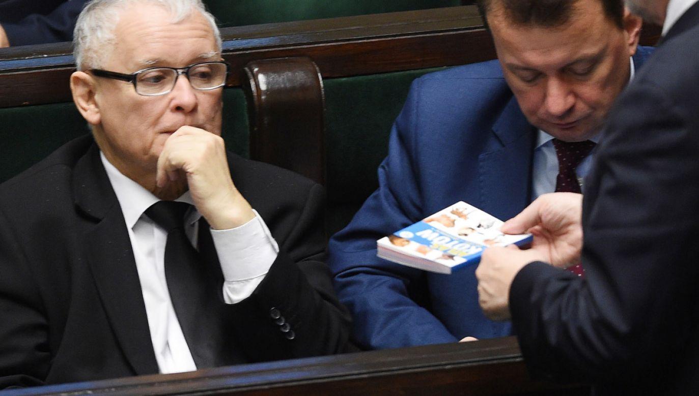 Jarosław Kaczyński w Sejmie (fot. PAP/Radek Pietruszka)