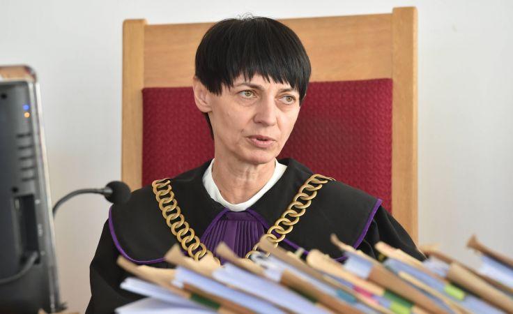 Sędzia Marta Woźniak na sali rozpraw Sądu Okręgowego w Krakowie, fot. PAP/Jacek Bednarczyk