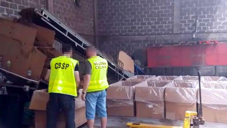 Likwidacja przestępczej manufaktury tytoniowej (fot: CBŚP, KAS)