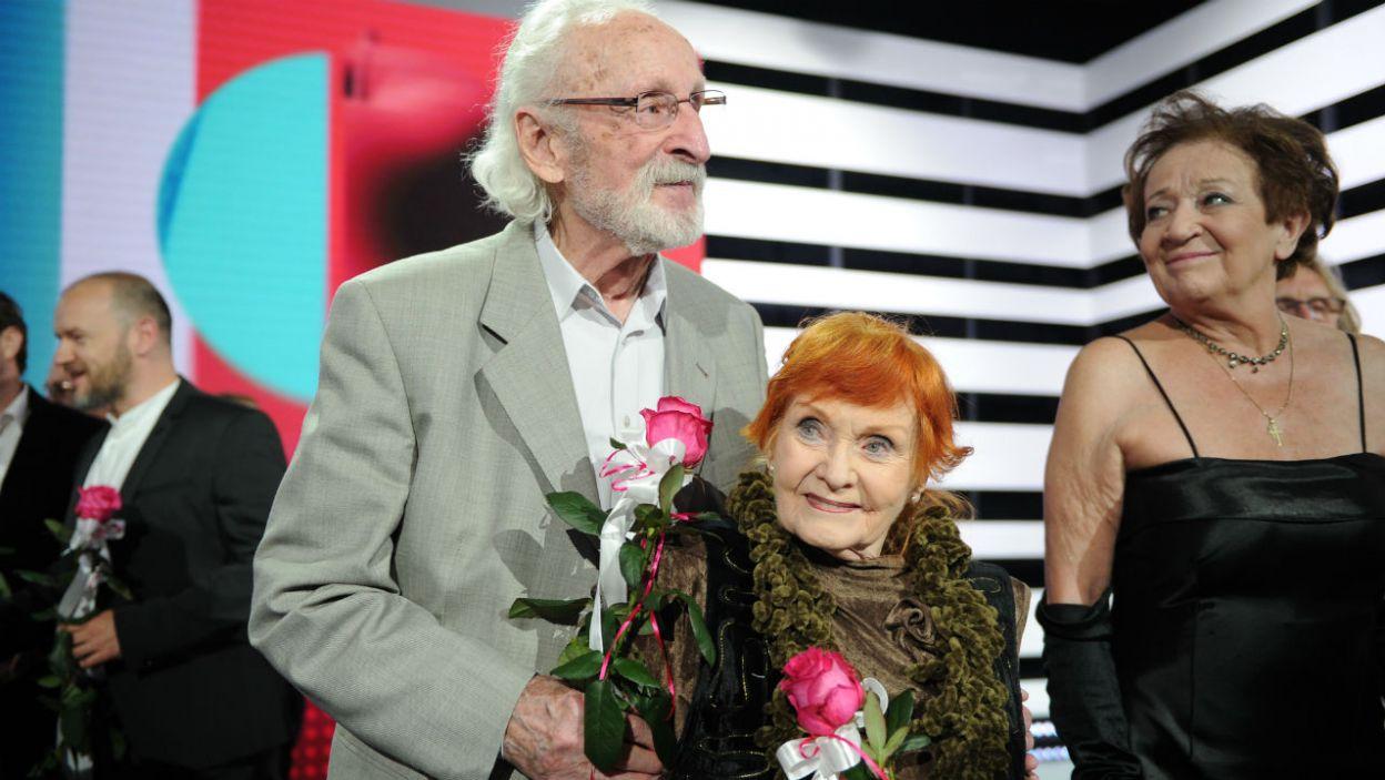 Wybitni aktorzy nie kryli wzruszenia, ale jak zaznaczają – nie kończą kariery (fot. N. Młudzik/TVP)