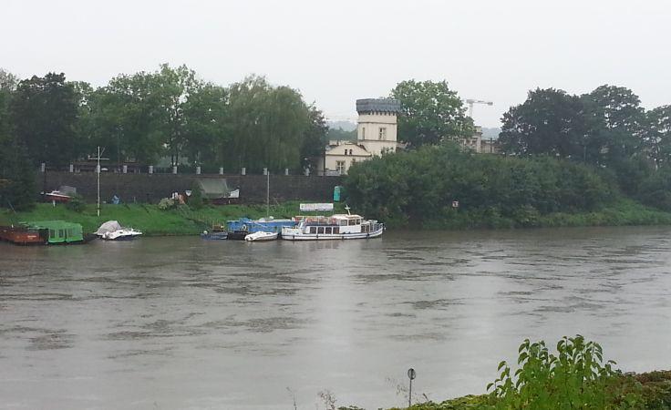 Wisła w rejonie Salwatora w Krakowie, fot. Tadeusz Pokorny (Info od Was)