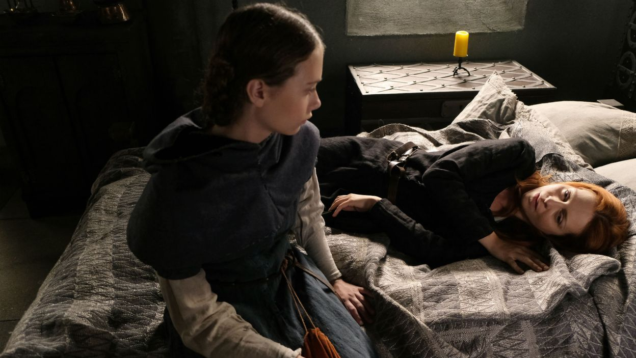 Egle przeżywa rozstanie, ale nie chce nic mówić Audre. Jej córka martwi się o matkę (fot. TVP)