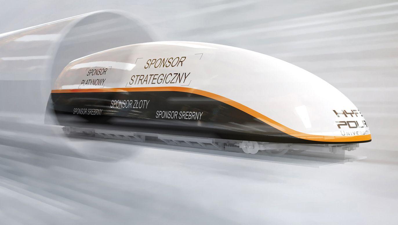 Koszt budowy kilometra hyperloopa jest o 10-30 proc. mniejszy niż torowiska KDP (fot. hyperpoland.com)
