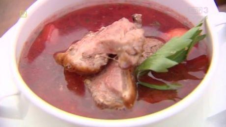 15.07.2017 - staropolska zupa z kaczki i schab w szałwii i lubczyku