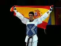 Hiszpan Joel Gonzalez Bonilla wygrał w kategorii 58 kg (fot. Getty Images)