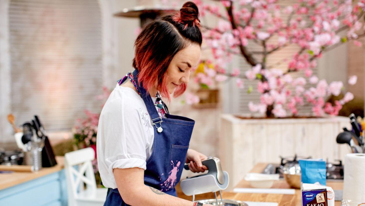 Małgorzata Nagat przygotowuje tiramisu (fot. TVP)