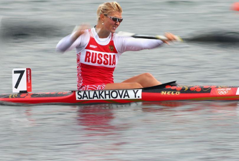 Rosjanka Salakhowa odpadła z rywalizacji K1 na 500 metrów (fot. Getty Images)