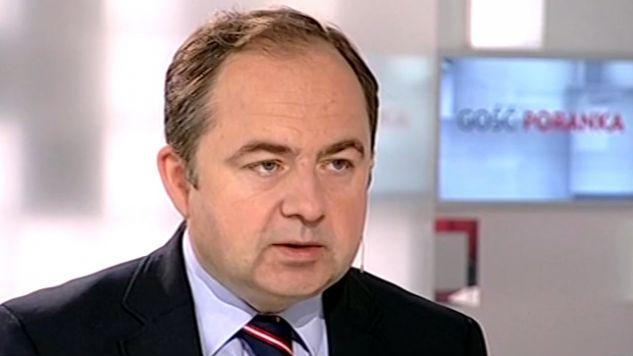 Wiceminister SZ Konrad Szymański (fot. TVP Info)
