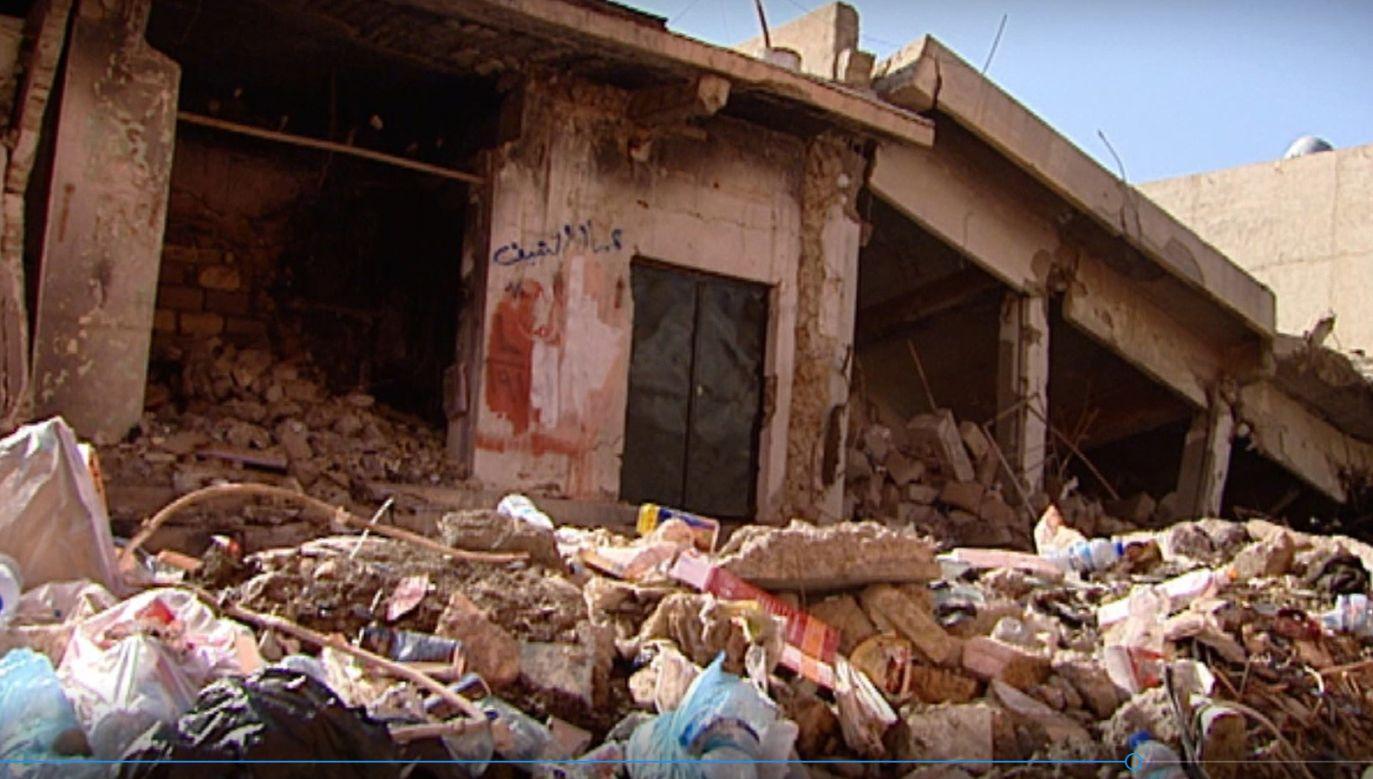 Wśród osób, które opuściły swoje domy było bardzo wielu Kurdów zamieszkujących północną Syrie (fot. TVP info)
