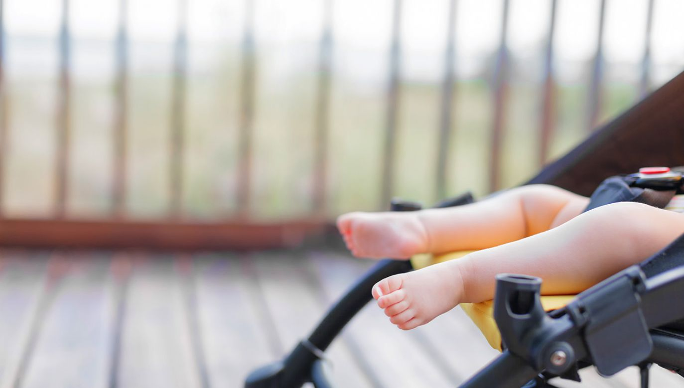 Wózek stoczył się i przewrócił, a niemowlę wpadło do wody (fot. Shutterstock/Dmitry Zimin)
