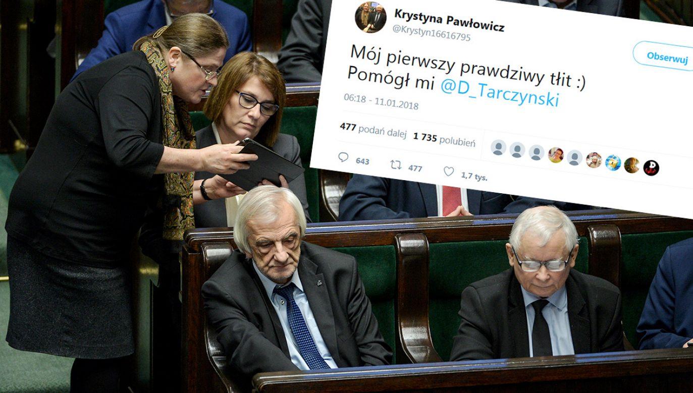 Krystyna Pawłowicz w Sejmie (fot. PAP/Marcin Obara/tt/@Krystyn16616795)