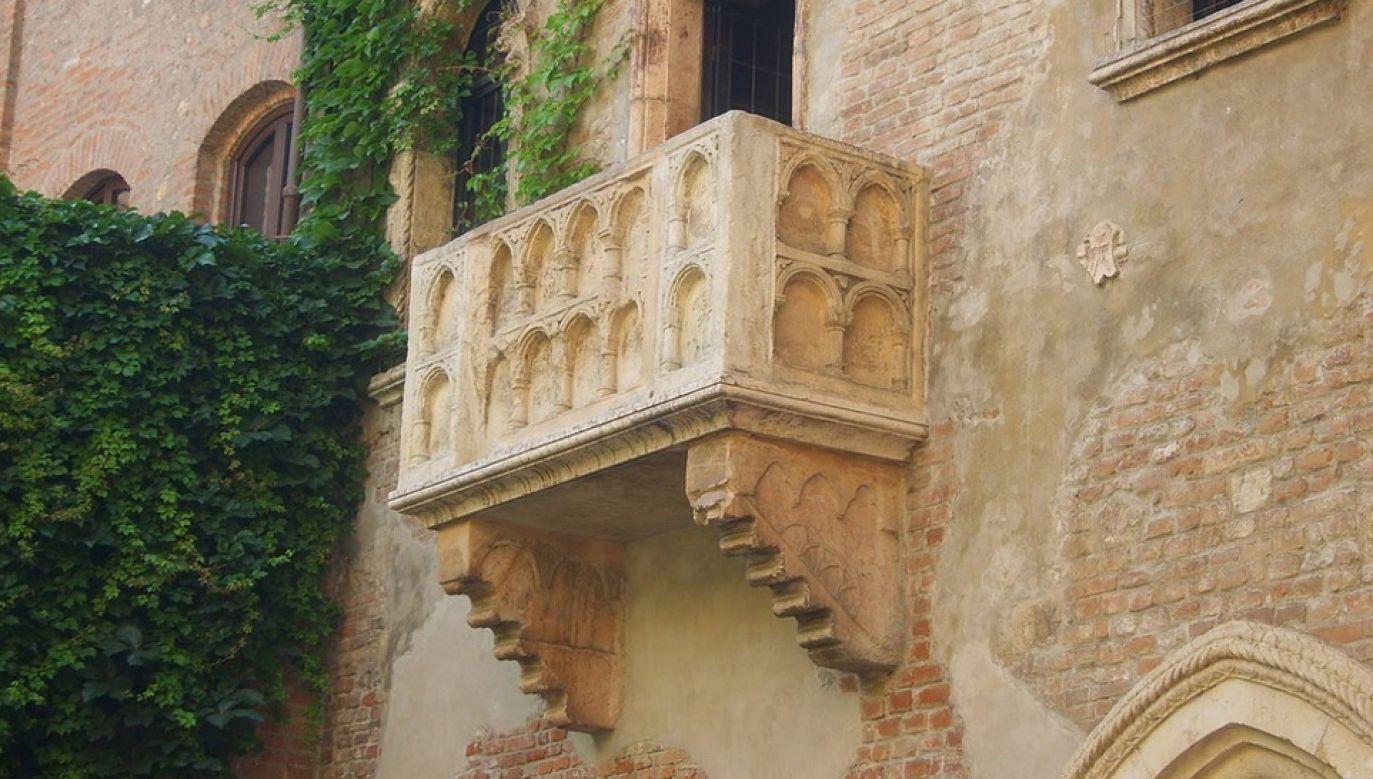 Pod tym balkonem miał zgodnie z legendą wystawać Romeo Montecchi (fot. Pixabay)