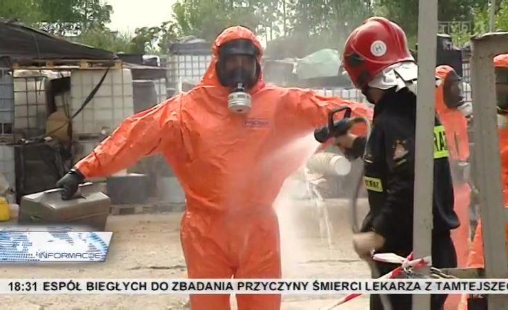 Śmierdząca sprawa.... Strażacy od trzech dni zabezpieczają wycieki chemicznych substancji