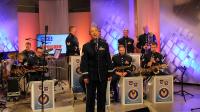 """1. Muzycy z zespołu """"United States Air Forces in Europe"""" w TVP3 Rzeszów"""