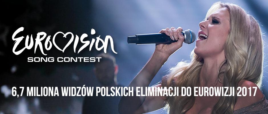 Mailing: 6,7 miliona widzów eliminacji do Eurowizji 2017