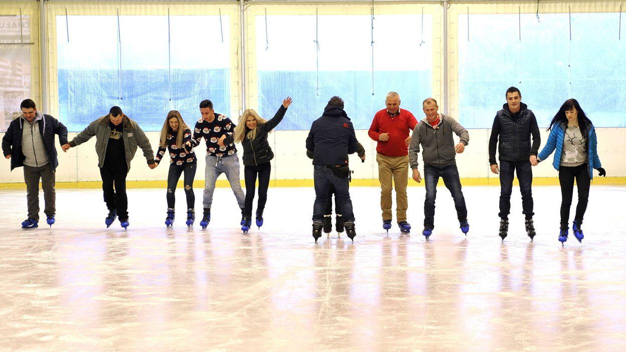 Jedną z atrakcji spotkania było wspólne wyjście na łyżwy (fot. TVP)