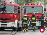 Zawaliła się ściana budynku w Bytomiu. Strażacy sprawdzają gruzowisko