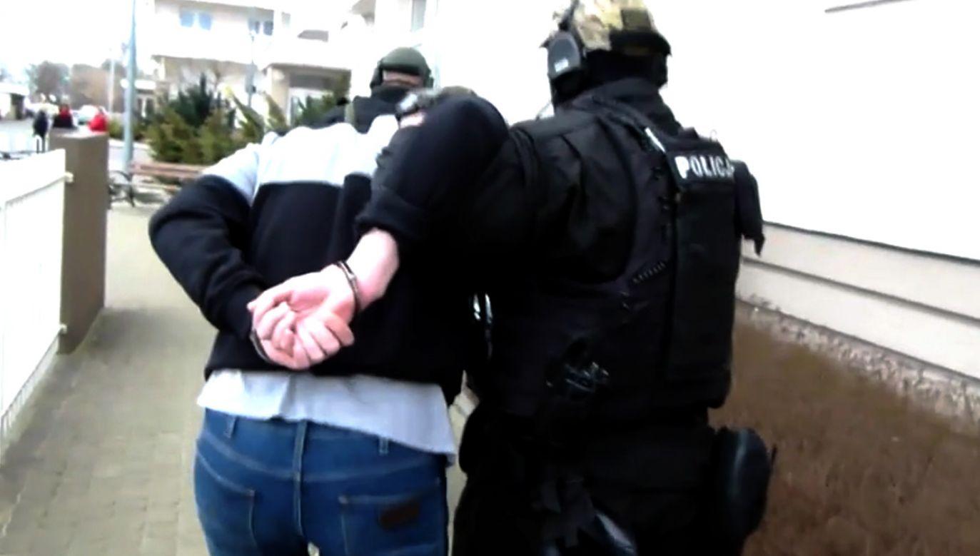 Bandyci szybko zostali namierzeni i zatrzymani (fot. TVP info)