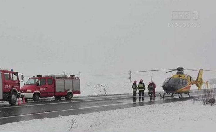 Śnieg na drogach przyczyną wielu niebezpiecznych zdarzeń