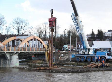 Rozpoczęcie budowy mostu w Białym Dunajcu