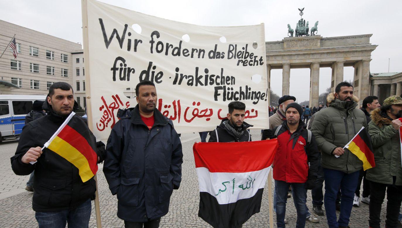 Protest imigrantów w Berlinie (fot. REUTERS/Fabrizio Bensch)