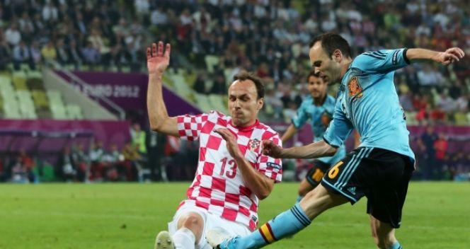 Swoją jedyną asystę w turnieju Iniesta zaliczył przeciwko Chorwacji (fot. Getty Images)