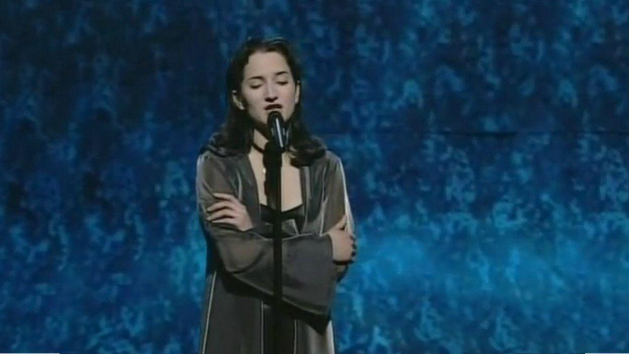 W 1995 roku Justyna Steczkowska nie miała  już tyle szczęścia (fot. TVP)