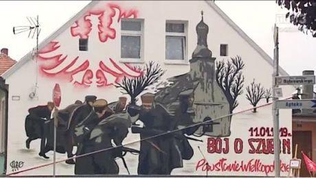 W Szubinie odsłonięto mural upamiętniający oswobodzenie miasta