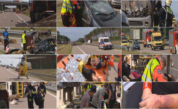 Ćwiczenia na autostradzie A2. Upozorowano tragiczny wypadek