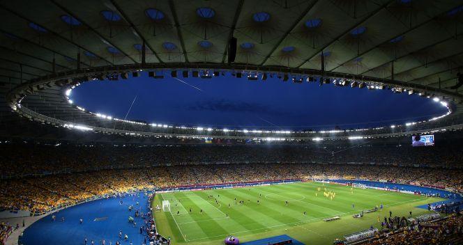 Piękna panorama Stadionu Olimpijskiego w Kijowie (fot. Getty)