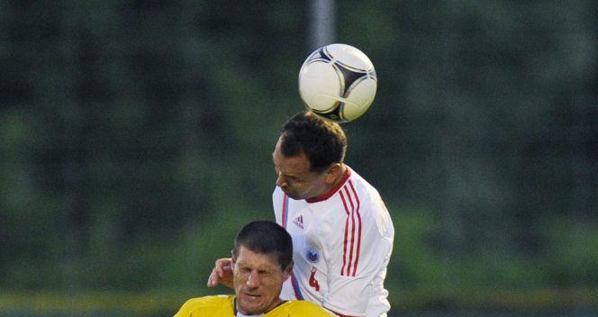 Siergiej Ignaszewicz (P) i Andrius Velicka (fot. PAP/EPA)
