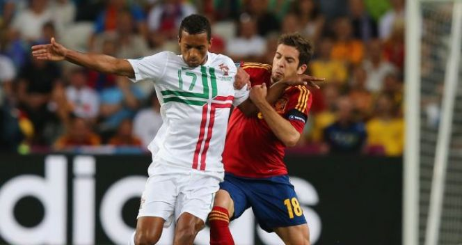 Nani i Jordi Alba (fot. Getty Images)